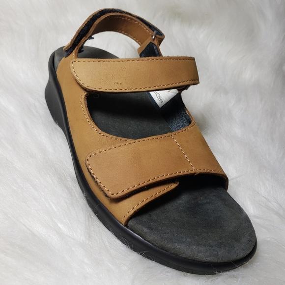 a37ca7ef62 Medical Shoes | Leather Orthopedic Matplus Velcro Emily Sandal Tan ...